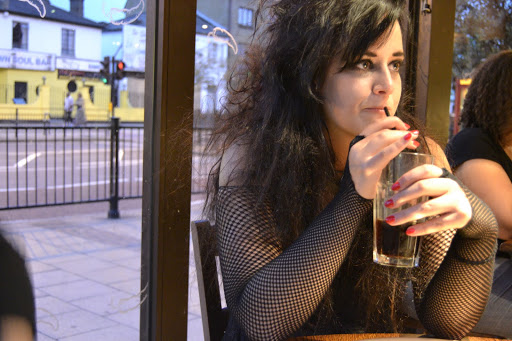 This is what it's like to be FAMOUS! At a Harry Potter Premiere. Bellatrix at Nandos costume