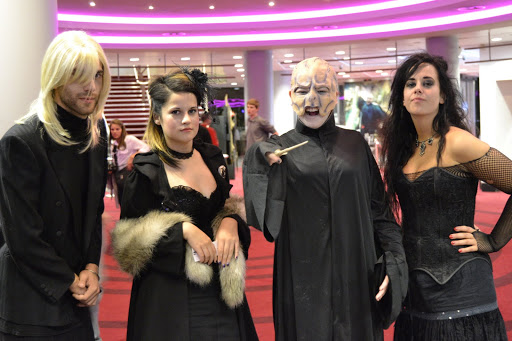 This is what it's like to be FAMOUS! At a Harry Potter Premiere.-Voldemort costume-Malfoy costume - London