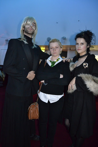 Edmund Sage-Green - Malfoy family + costumeThis is what it's like to be FAMOUS! At a Harry Potter Premiere.