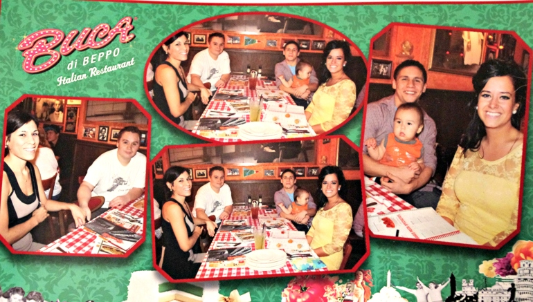 Thanksgiving dinner at Buca