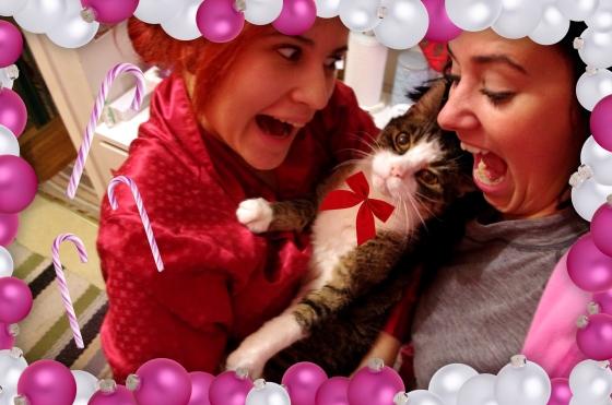 Christmas 2012+Norwegian Christmas+Norway+Christmas eve+ juleaften+juletre +partyhats - Cute Cat -Cats - gift - pet