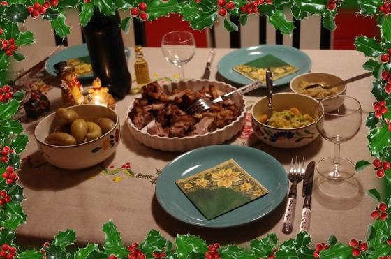Christmas 2012+Norwegian Christmas+Norway+Christmas eve+ juleaften+juletre +partyhats + Food + Ribbe + pork
