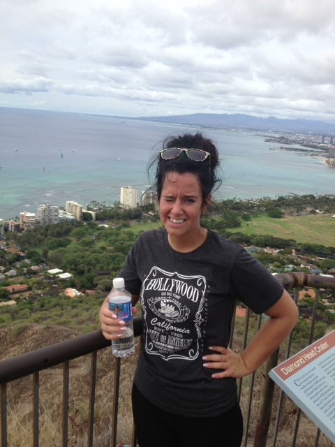 Diamond head hike with Dez n gf