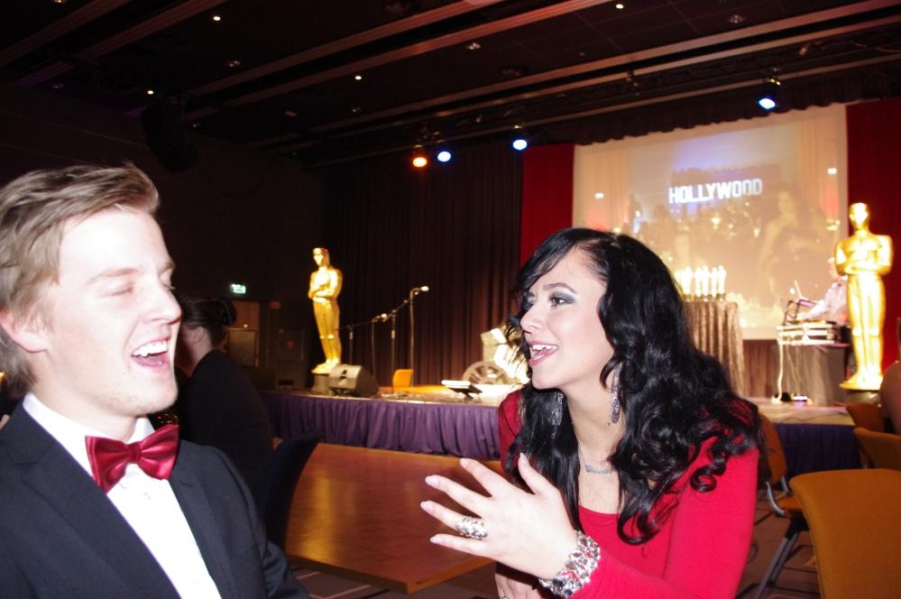Quality hotel og resort Sarpsborg-julebord -resepsjonist sjef + Oscars 2012 + talk