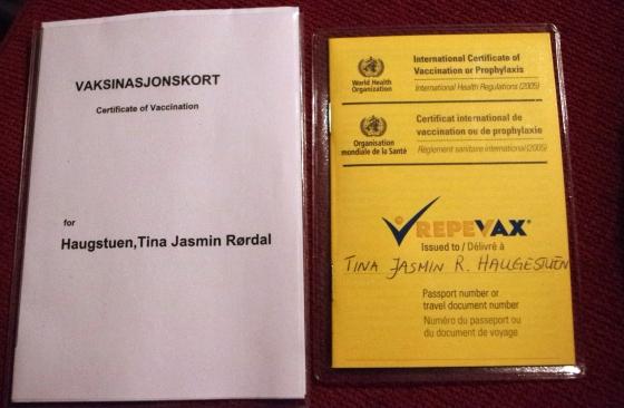 Vaccination certificate, Yellow Fever, Yellow card, Kenya, Mombasa, Africa