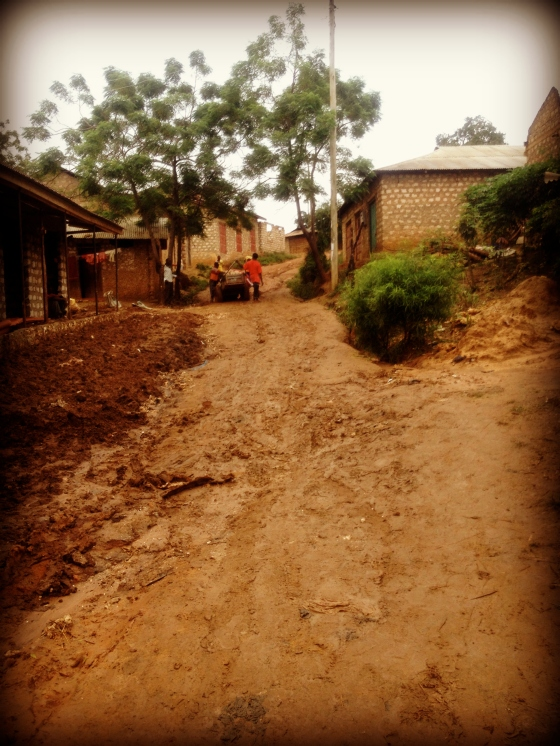 Africa, Volunteering, Short rains, Mudd, muddy hill, Moshmoroni, Mombasa, Africa, Volunteering, New Hope