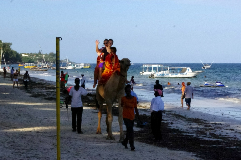 i-to-i volunteering Kenya Mombasa beach camel ride