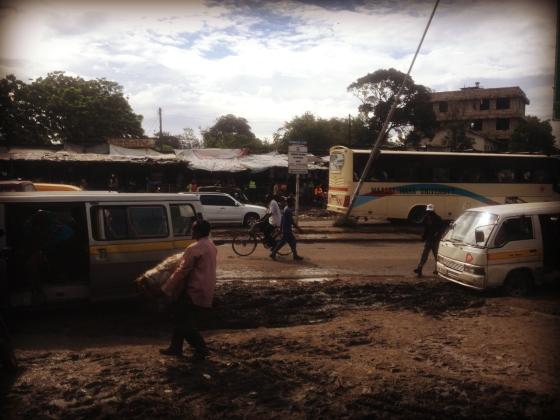 Kenya, Mombasa, Lights, Matatu, Buses, Mud, Africa