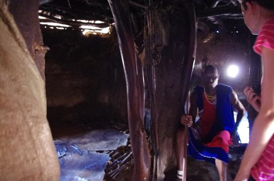 Maasai tribe house cowskin cowdung