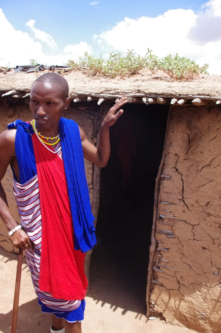 Maasai Tribe house of Cowdung village Kenya
