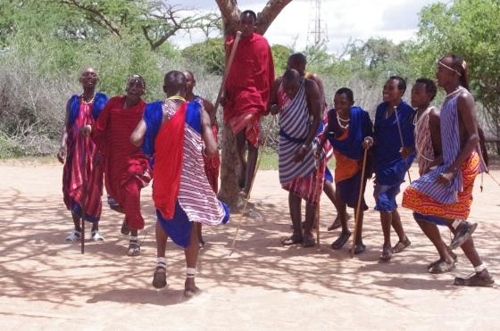 Maasai tribe Kenya Jumping Dancing