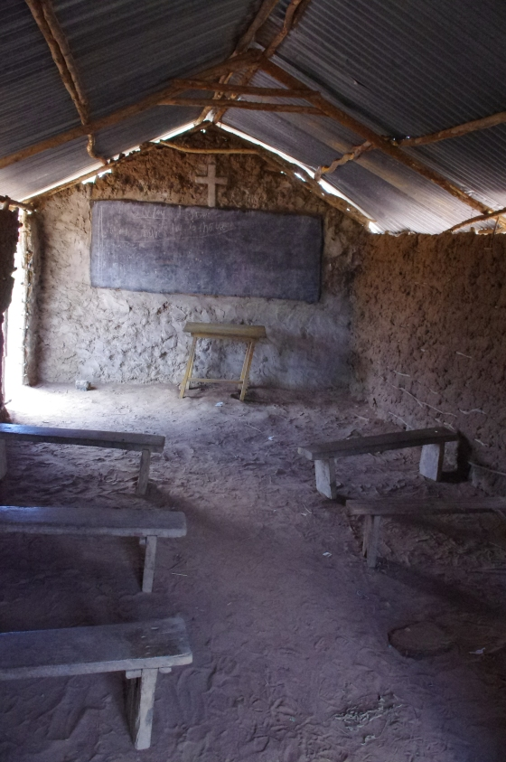 Maasai tribe village schoolhouse church