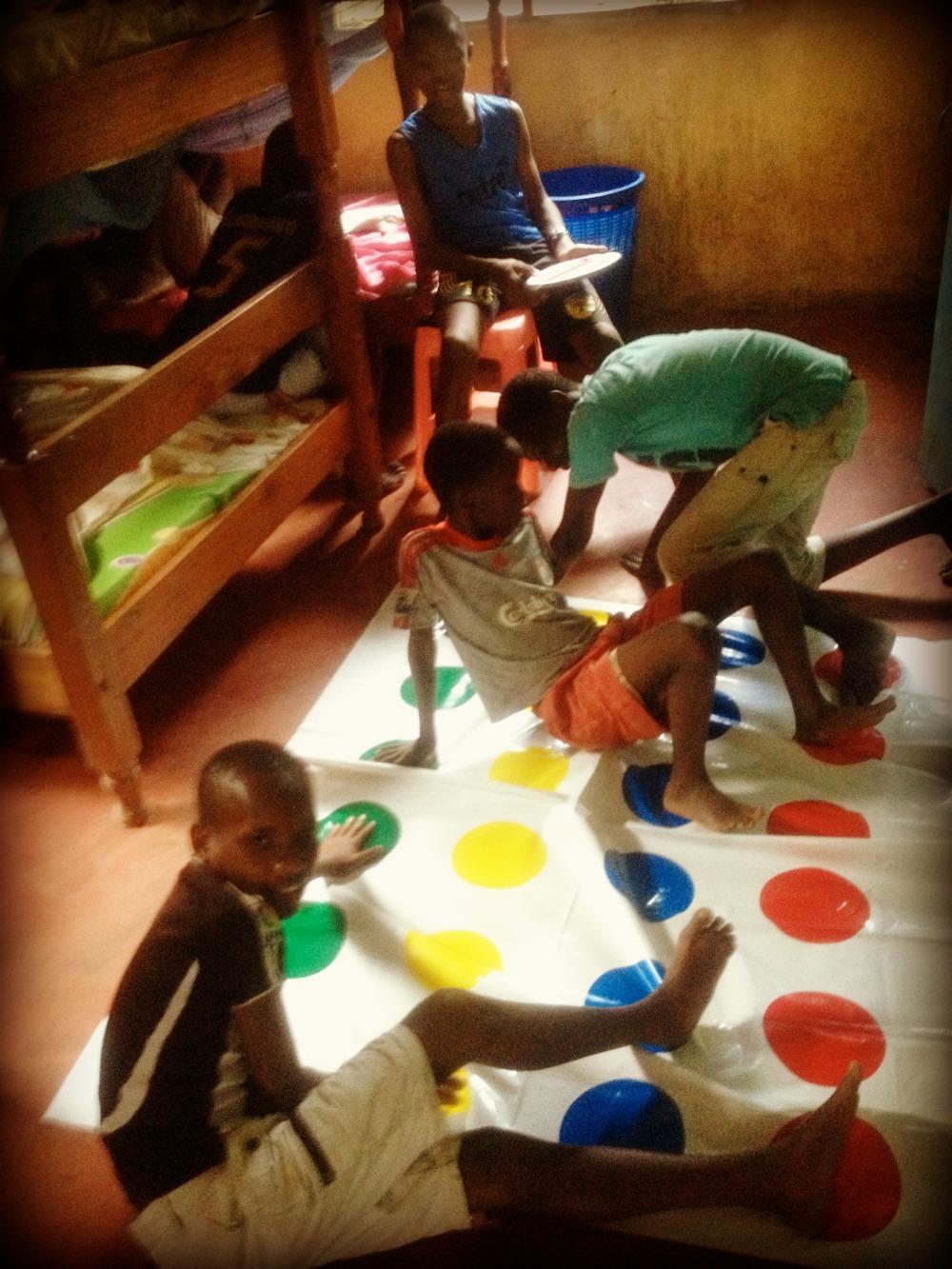 New Hope Childrens home Twister Volunteering i-to-i Africa Kenya Mombasa games