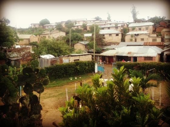 Rain, Kenya, Moshmoroni, New hope, Africa, houses