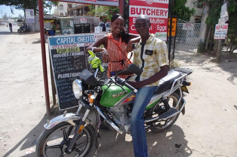 Piki Piki motorcycle Kenya Africa Transport Vescon one Bamburi