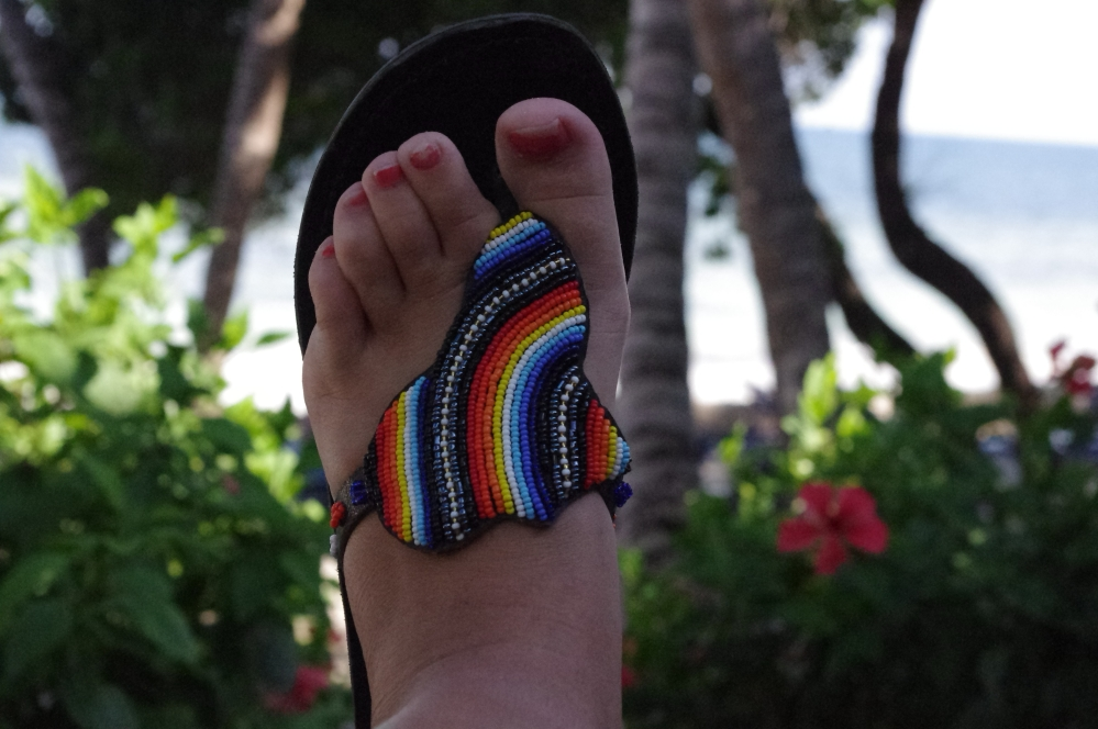 Foot Foot modell Sandal Africa Beads Fashion Kenya