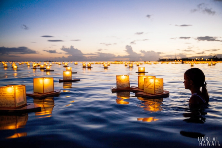 Memorial Day 2014 Hawaii Honolulu Ala Moana Beach Lantern