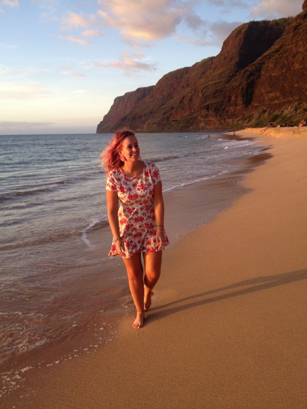 Beach - sunset - Hawaii- Panipale - Kauai