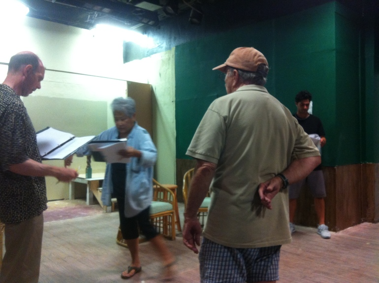 TAG Hawaii - The Actors Group - Acting - Theatre - blocking a play - Vanya and Sonya And Masha and Spike