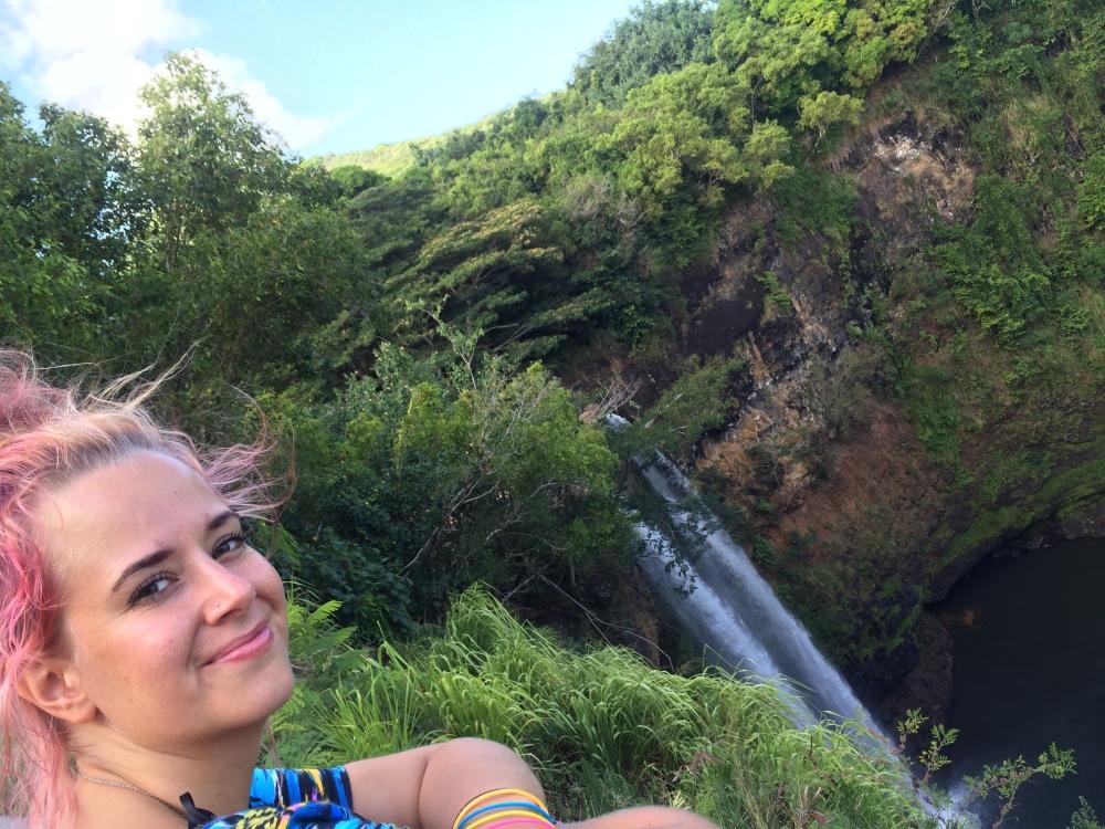 Wailua - KAuai - Hawaii - Waterfall - Wailua falls - hike