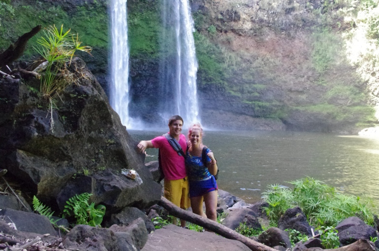 Wailua - KAuai - Hawaii - Waterfall - Honeymoon - Wailua falls - hike