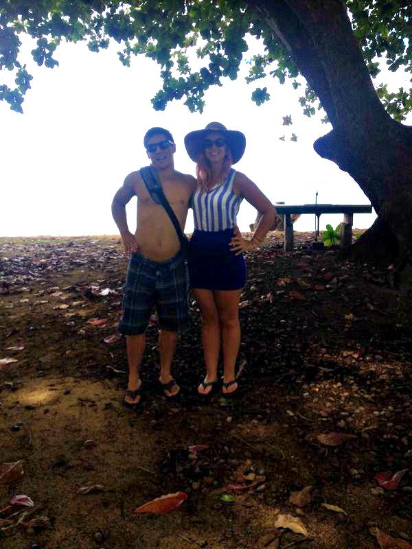 KAUAI - north shore - Anini beach park - Hawaii 5 o - couple