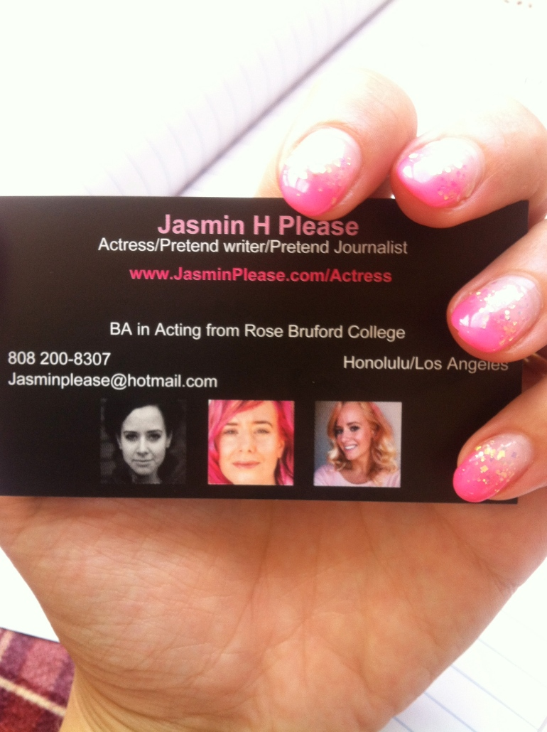 Acting Agent - How to get an Agent - Hawaii - Business card - Headshot - Jamba juice - Employment authorization card