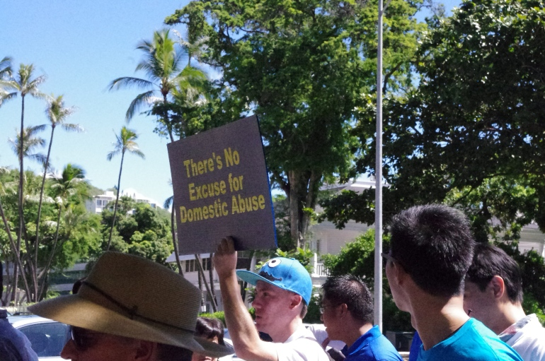 Men's March Against Violence, Hawai'i + He for She 2014