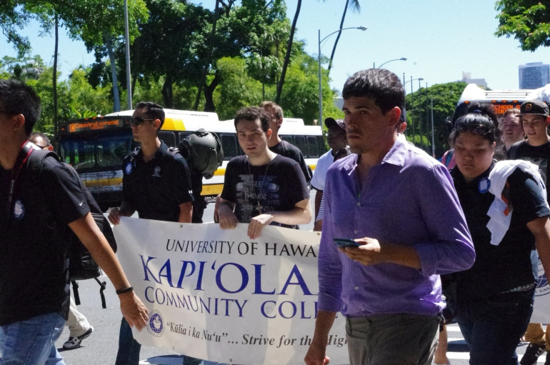Men's March Against Violence, Hawai'i + He for She 2014 + KCC - Kapiolani Community College