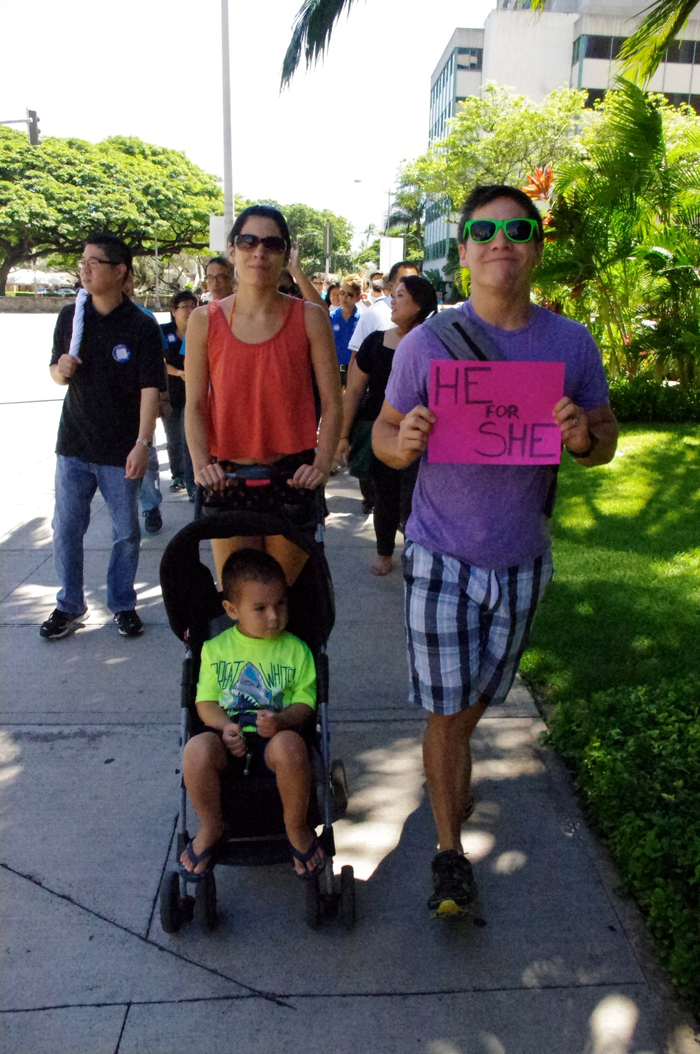 Men's March Against Violence, Hawai'i + He for She