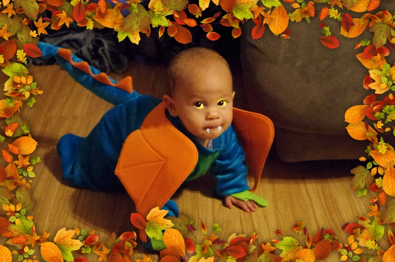 Halloween in Hawaii - 2014 - Baby - Dragon costume