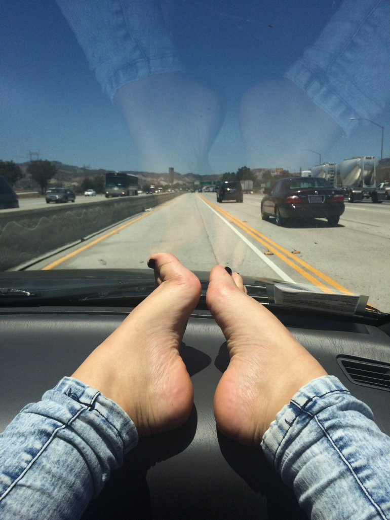 Road Trippin' Red hot chili peppers feet road trip car road Los Angeles Chilli peppers