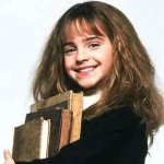 Emma Watson as Hermione Granger Books big hair nerd plain